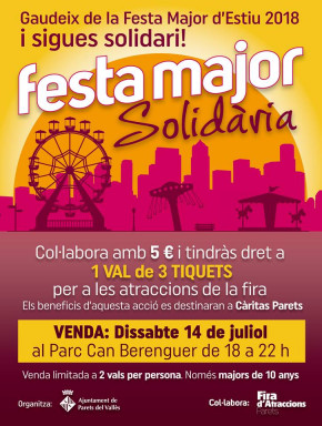 Una Festa Major solidària